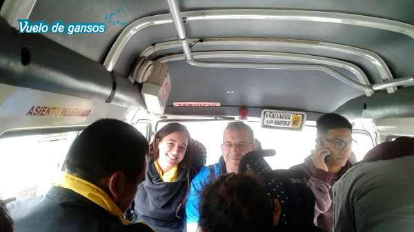 Microbús por dentro